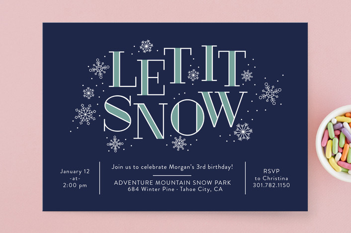 winter party invites for minted