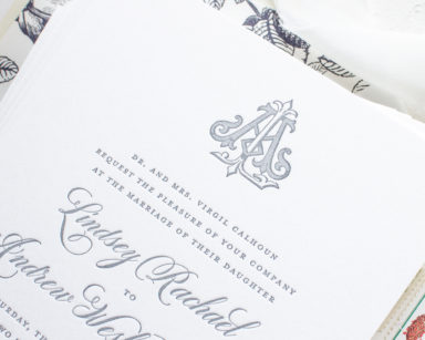Traditional Invitations in Letterpress | Classically