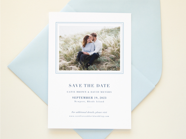 Letterpress Save the Date Formal Wedding