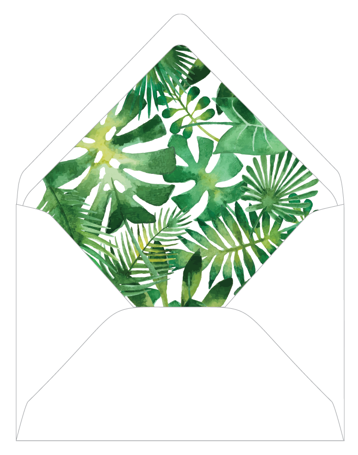 tropical envelope liner