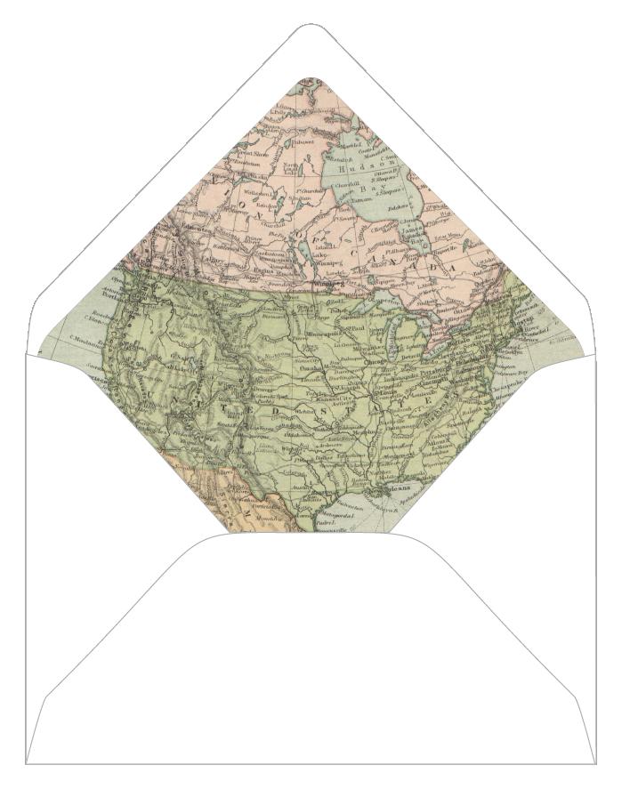 custom vintage map envelope liners