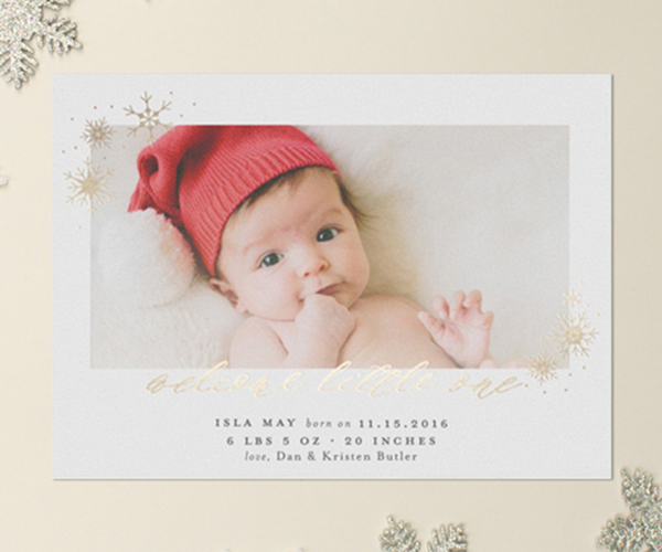 Birth Announcements Archives Banter and Charm – Holiday Birth Announcements