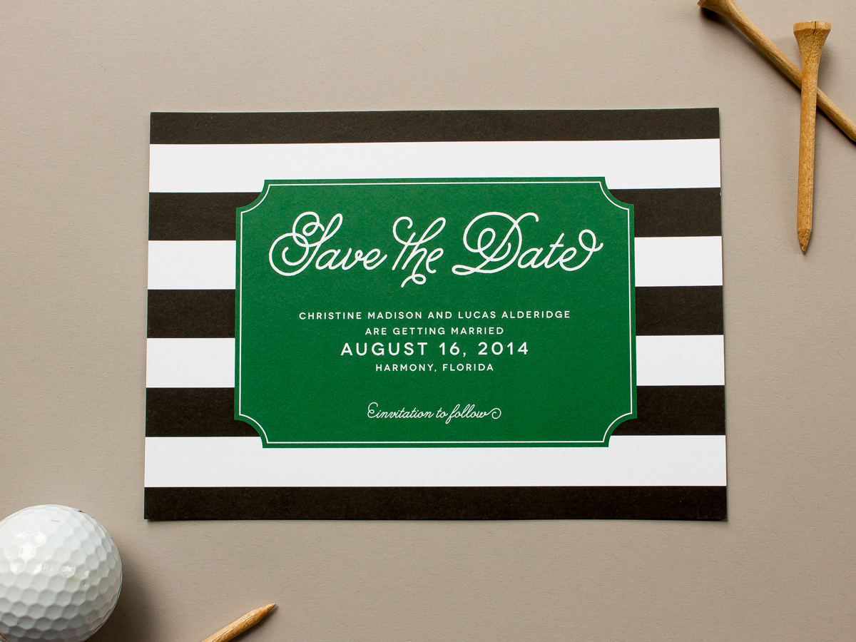 Preppy Save the Date Cards