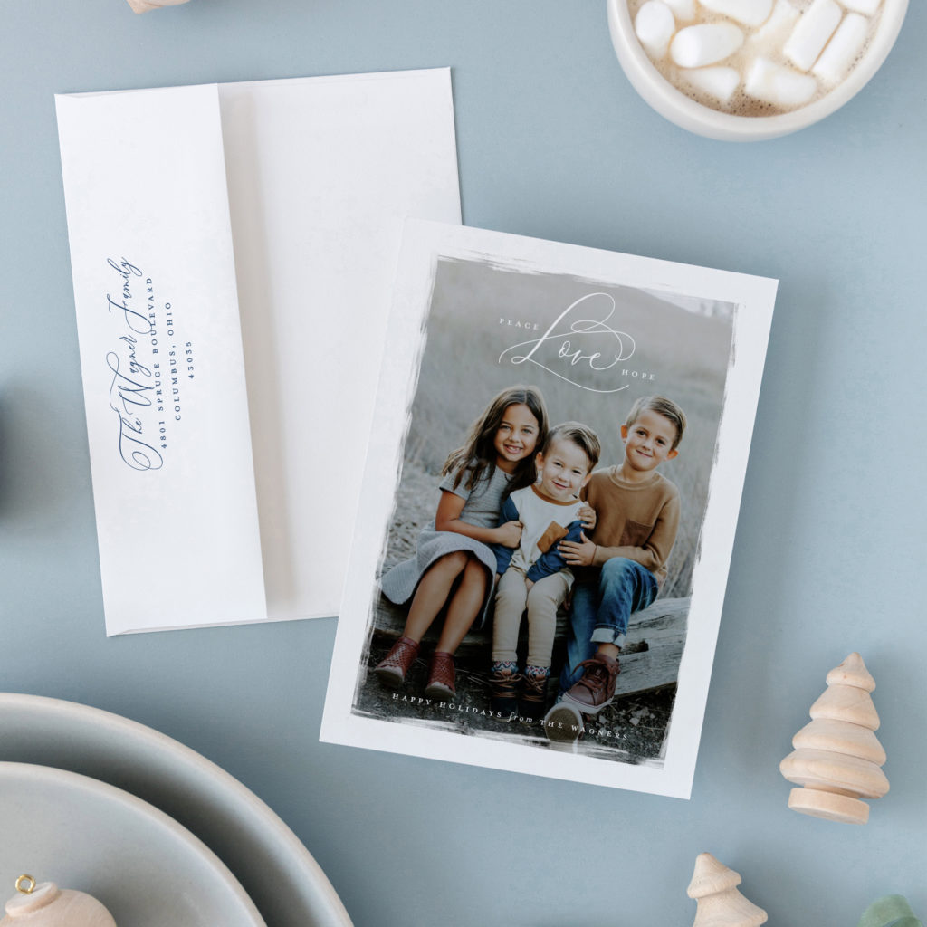 elegant classic holiday cards