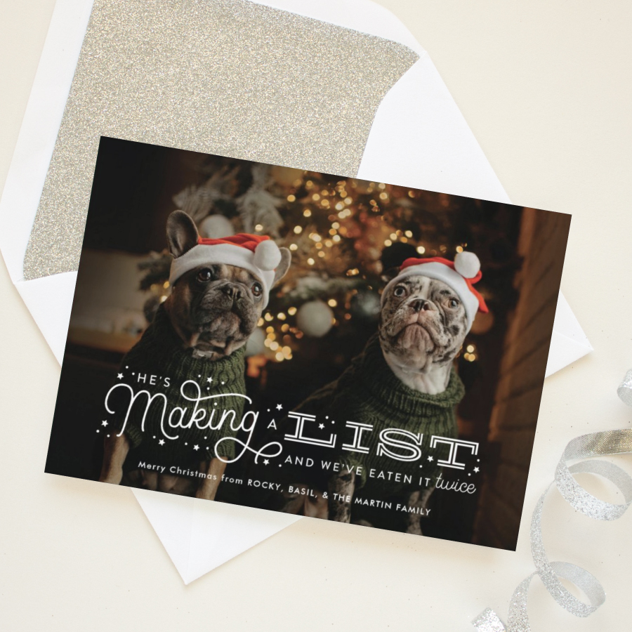 funny holiday card for dog owners