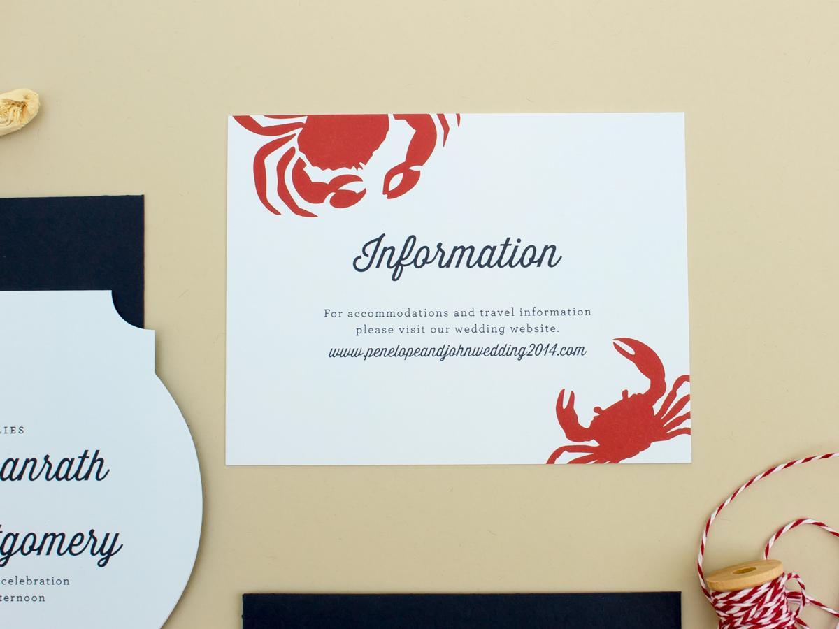 wedding information insert card