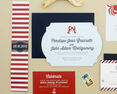 Maritime | Nautical Wedding Invitation Suite with Lobsters