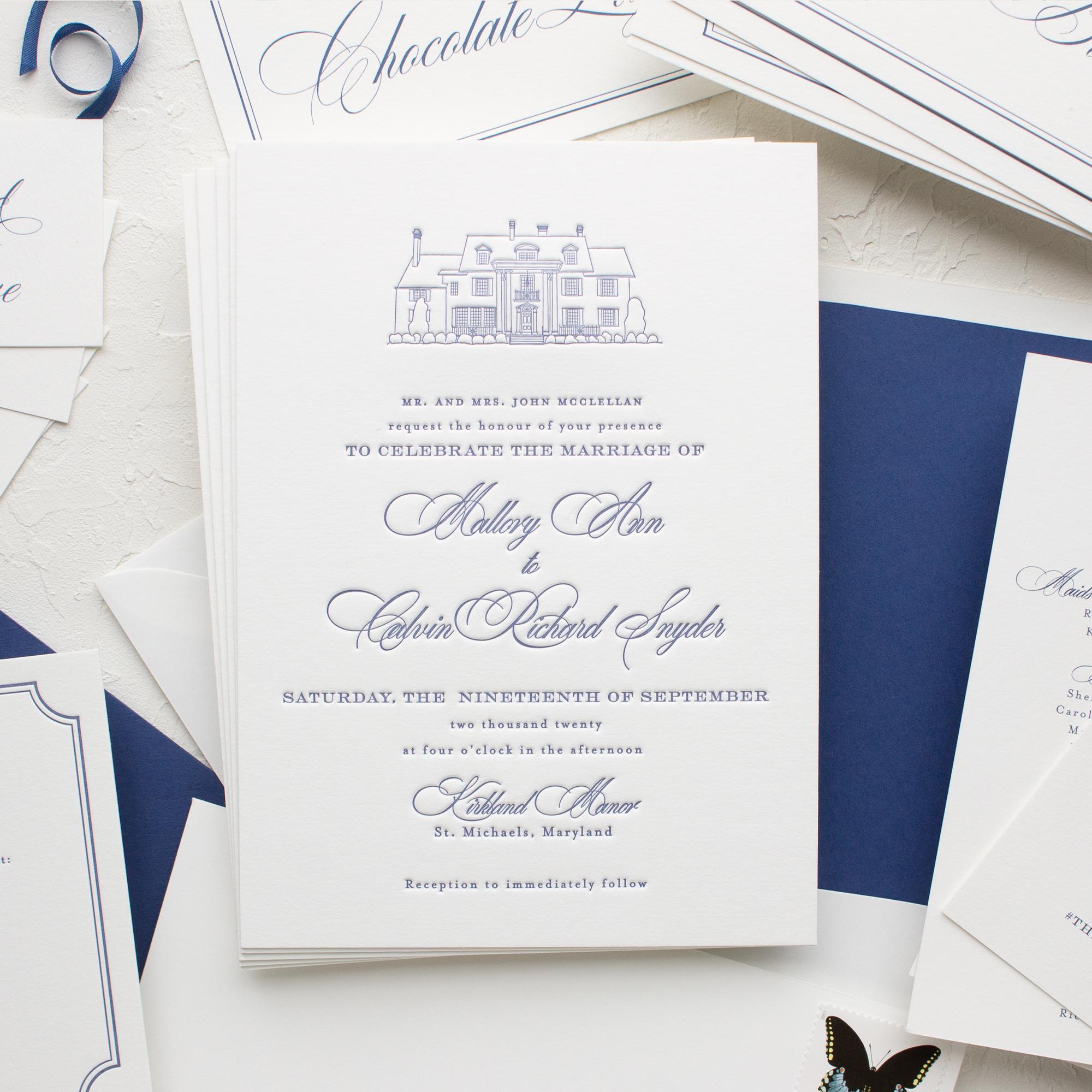 Maryland wedding custom invitations
