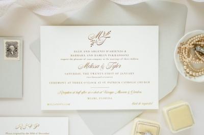 foil stamp invitation