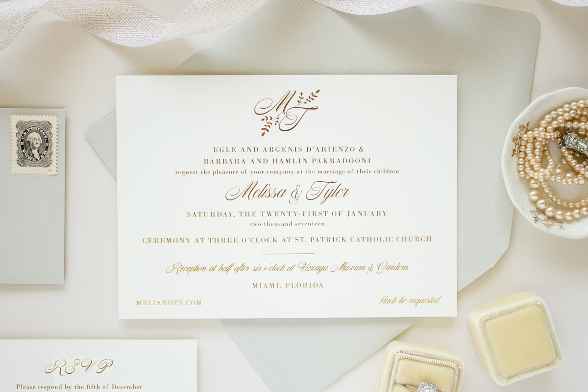 foil stamp invitation
