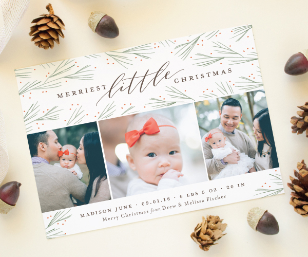 christmas birth announcements for Minted