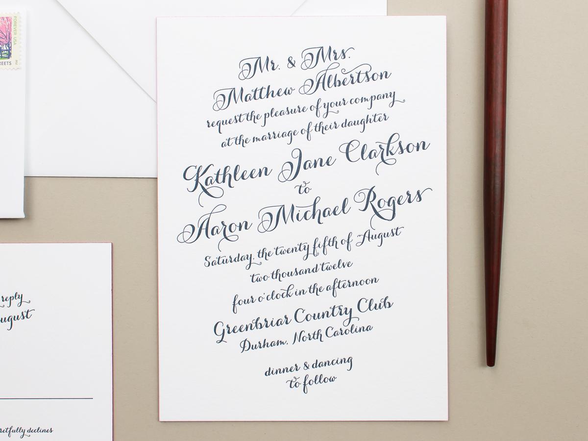 letterpress on 2-ply cotton paper