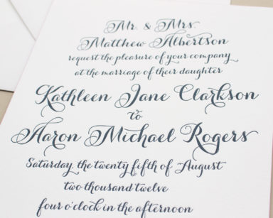 Merriment | Calligraphy Script Wedding Invitations