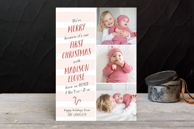 Baby's first Christmas card