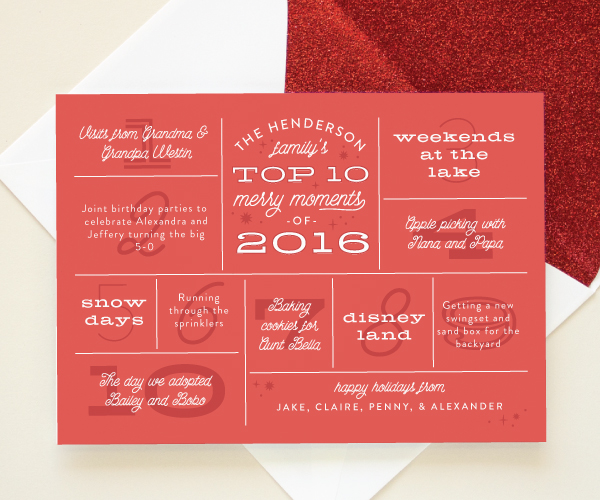 Year in Review Family Newsletters | 2016 Holiday Collection