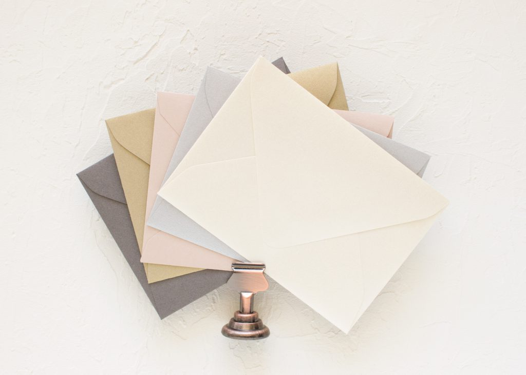 metallic gold wedding envelopes