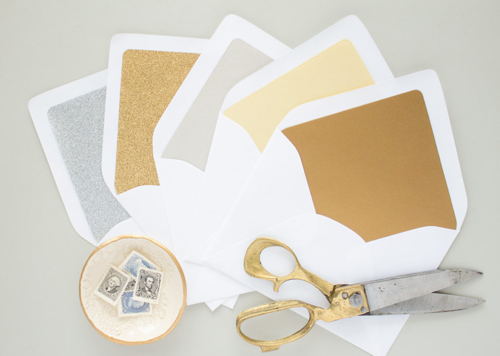 metallic envelope liners