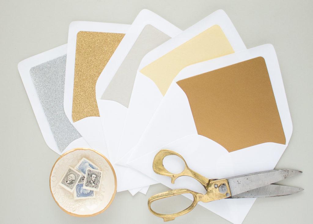metallic envelope liners