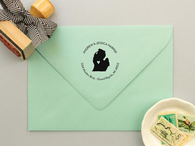 michigan address stamps