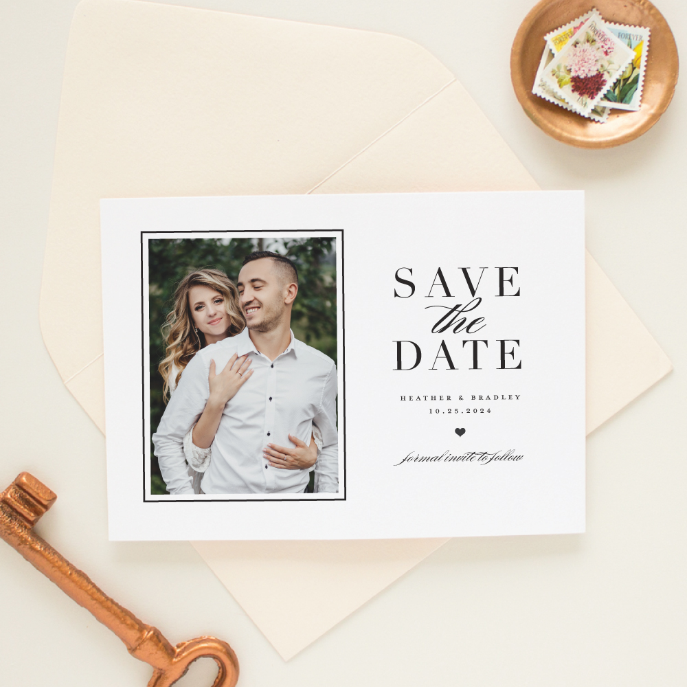 Modern Photo Save the Date Letterpress