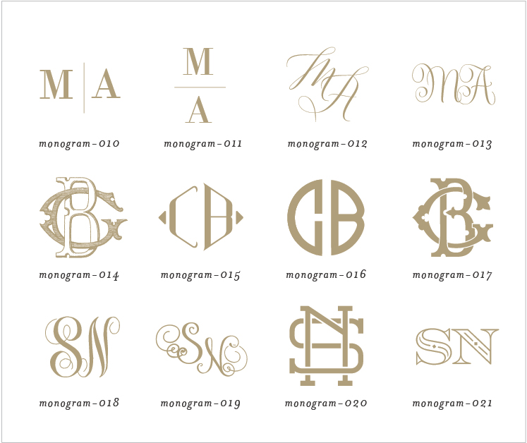 wedding invitation monograms