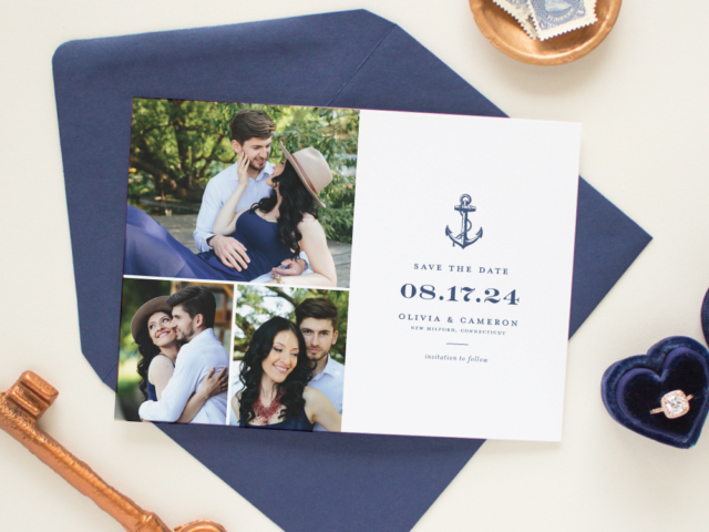 Nautical Wedding Save the Date multiphoto
