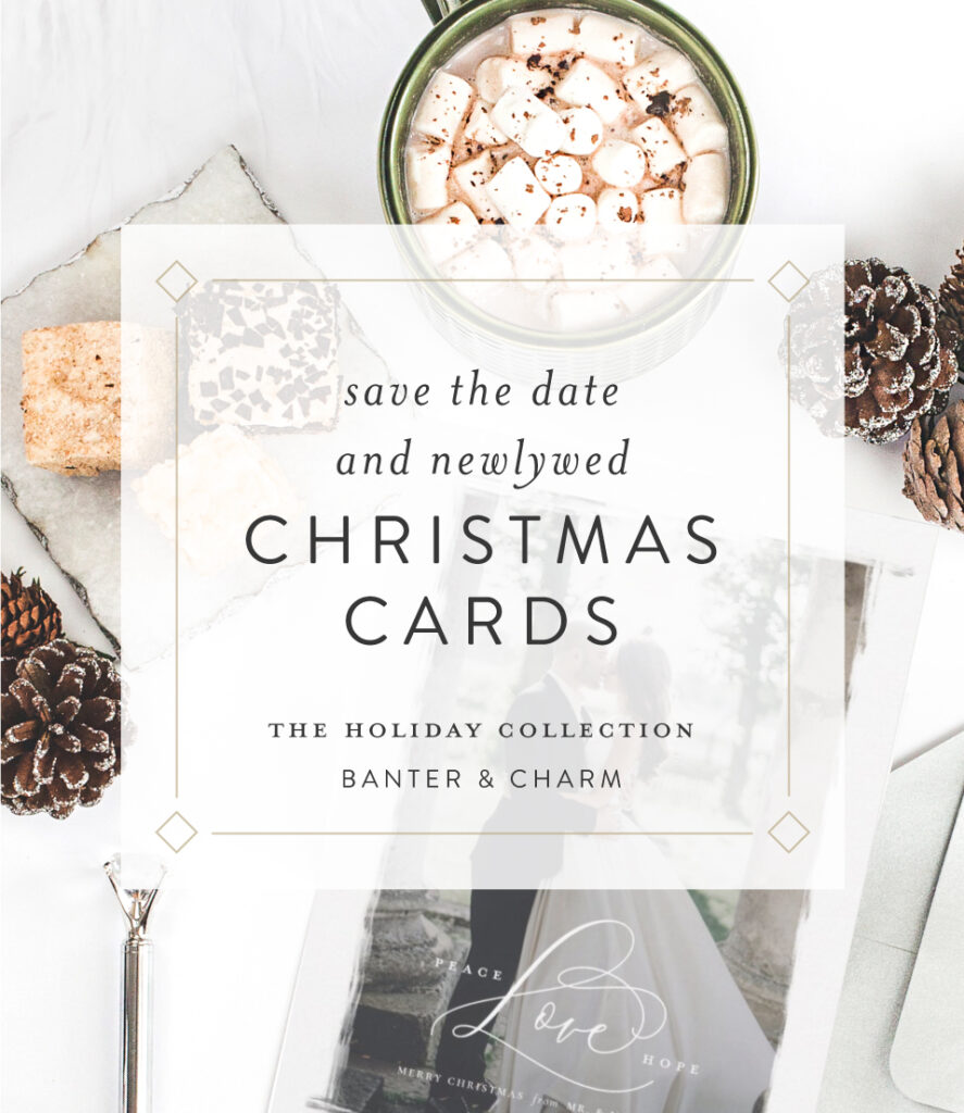 newlywed christmas card wedding announcements