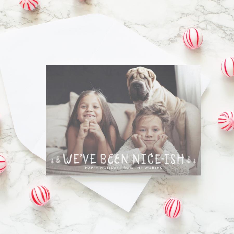 nice-ish funny naughty or nice christmas card