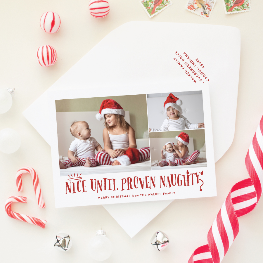 naughty or nice funny christmas card - Christmas Photo Cards 2017