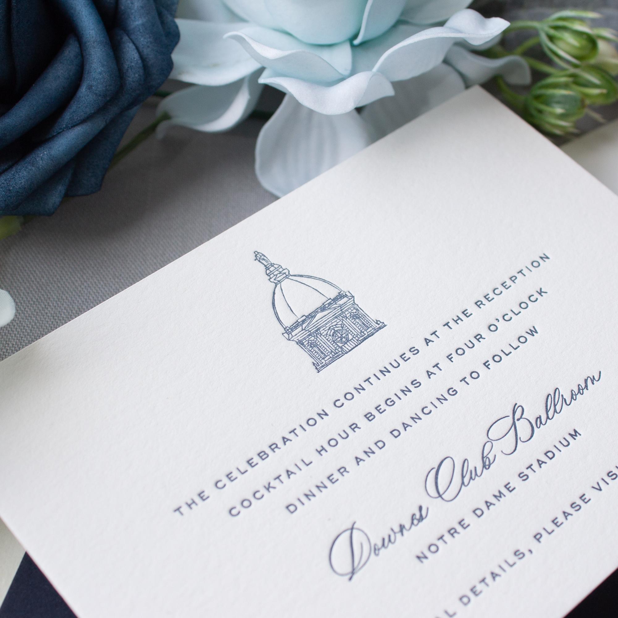 notre dame dome illustration invitation