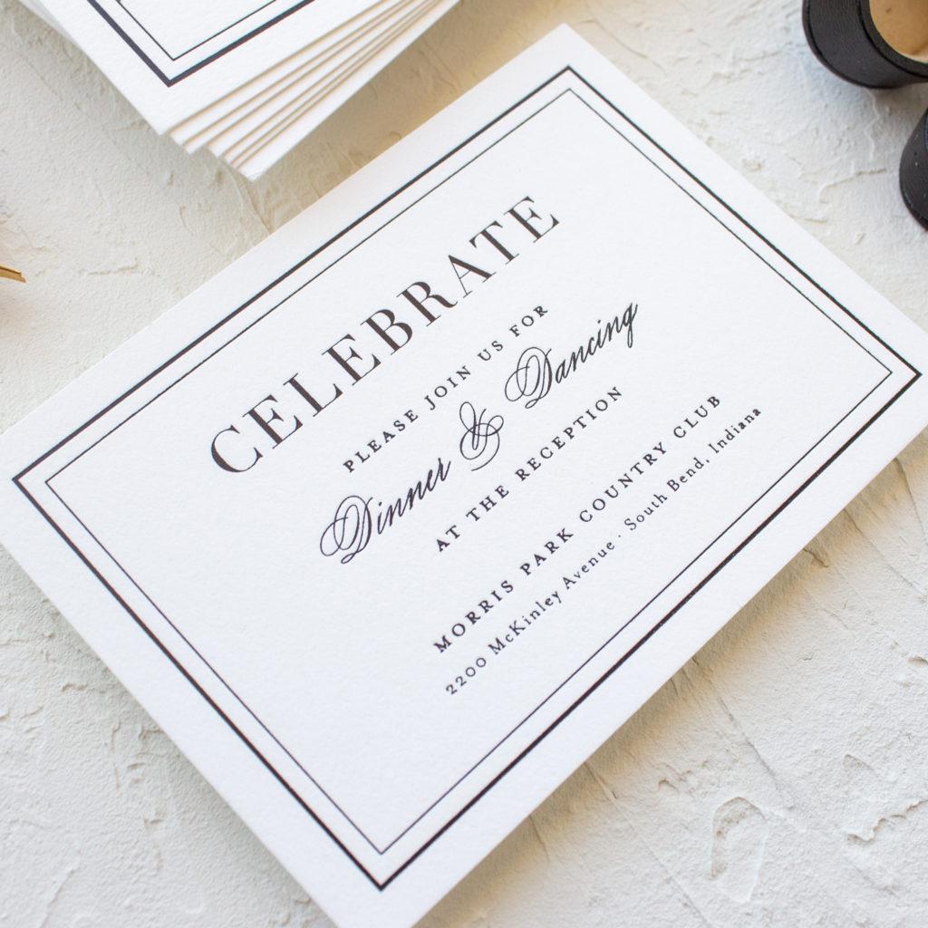 notre dame reception card