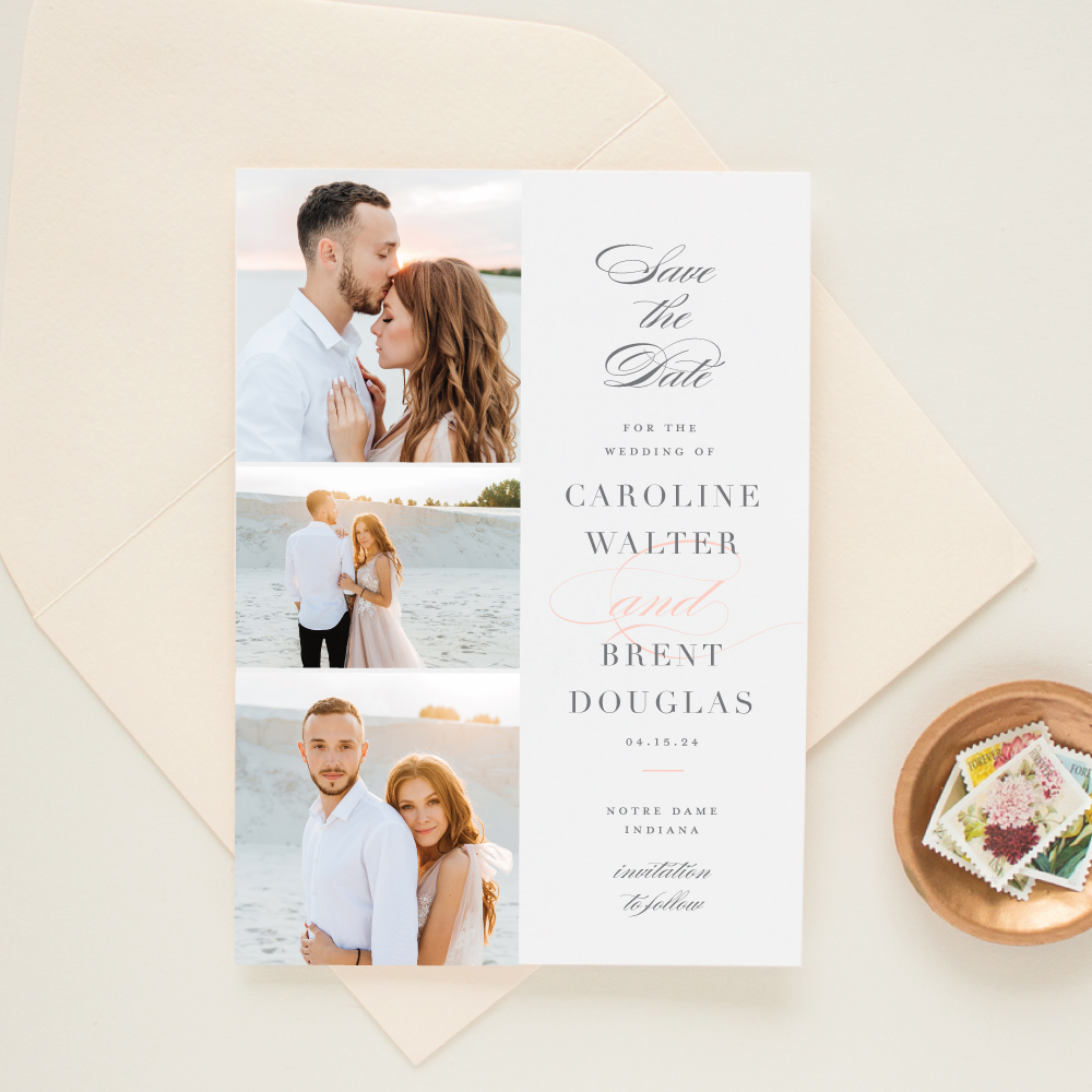 Notre Dame Wedding Save the Date multiphoto