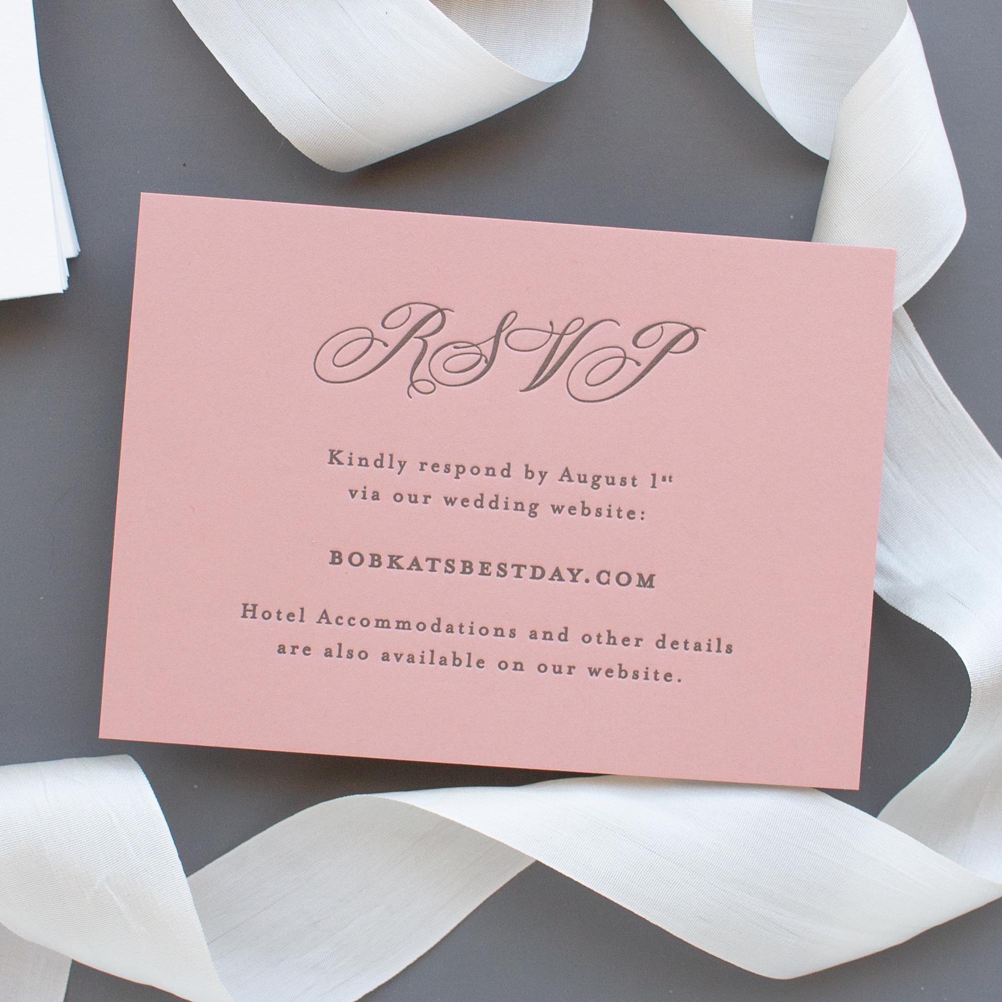 online rsvp card letterpress