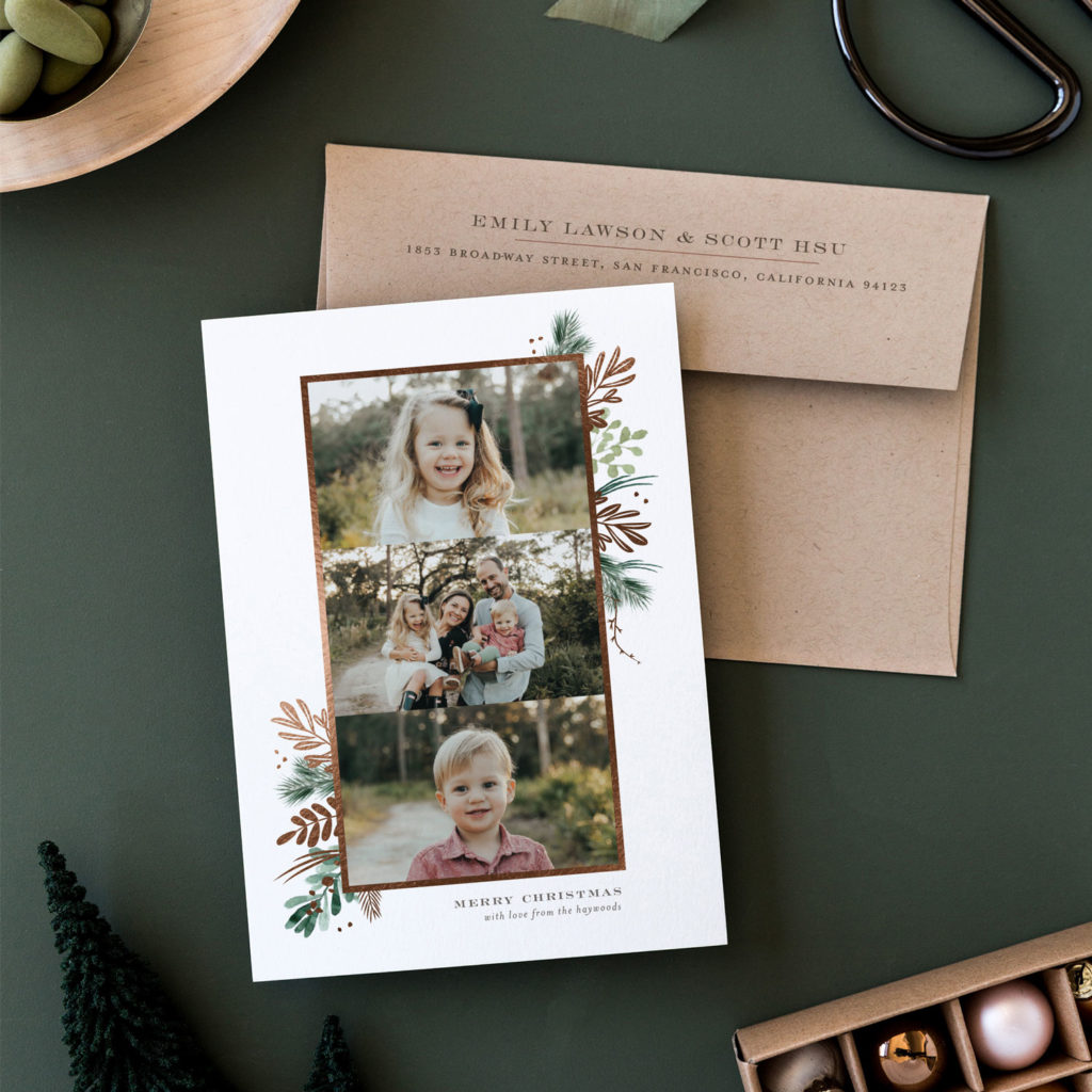 custom holiday cards for Minted