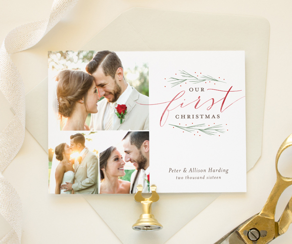 Christmas Save The Date Cards.Newlywed First Christmas Cards Holiday Save The Dates