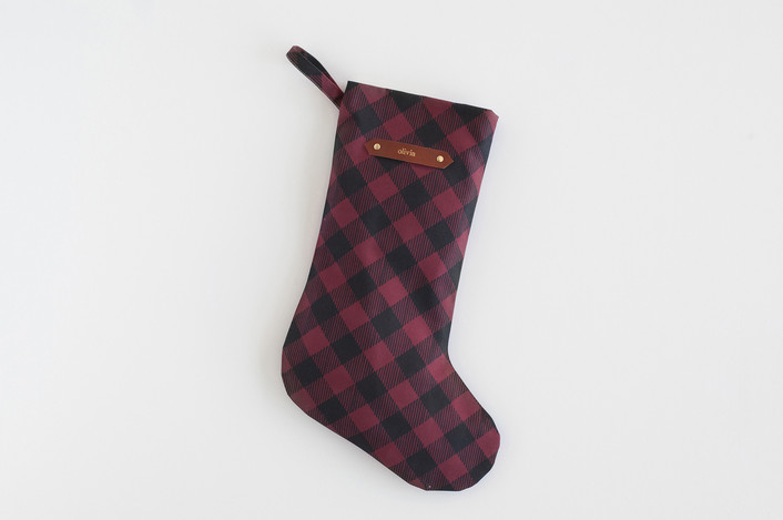 buffalo plaid personalized stocking