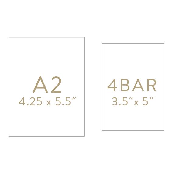 invitation size options