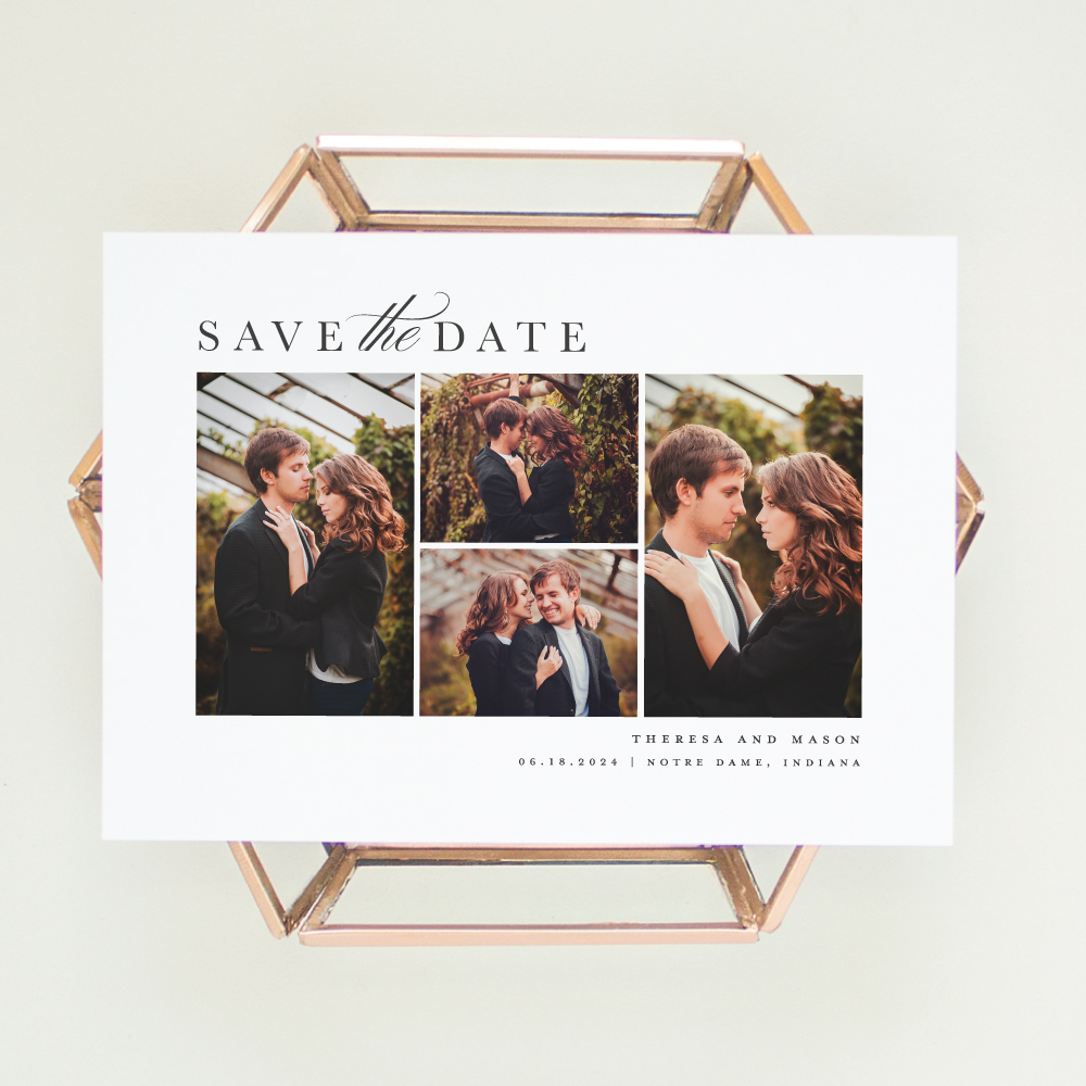 Photo Collage Save the Date Notre Wedding