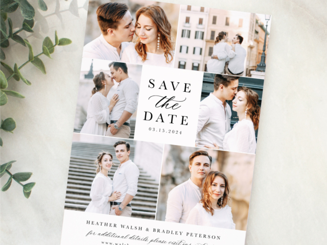 Modern Photo Gallery save the date