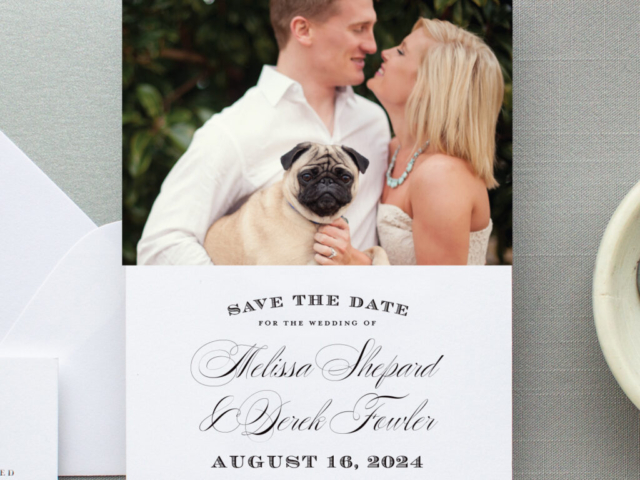 Photo Save the Date photo plus wording