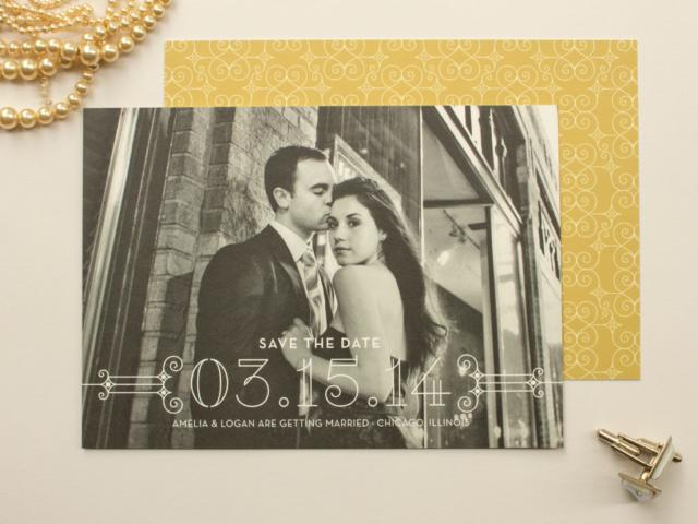 Art Deco Wedding Save the Dates