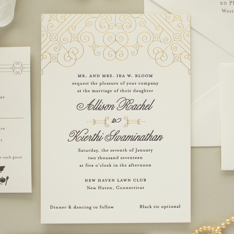 Posh Foil | Gold and Black Wedding Invitations - Banter and Charm