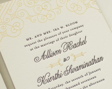 Posh Foil | Gold and Black Wedding Invitations