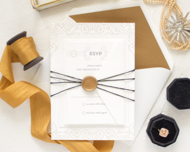 Art Deco Wedding Invitations | Posh