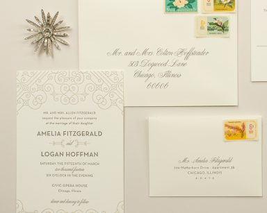 Posh | Art Deco Wedding Invitations
