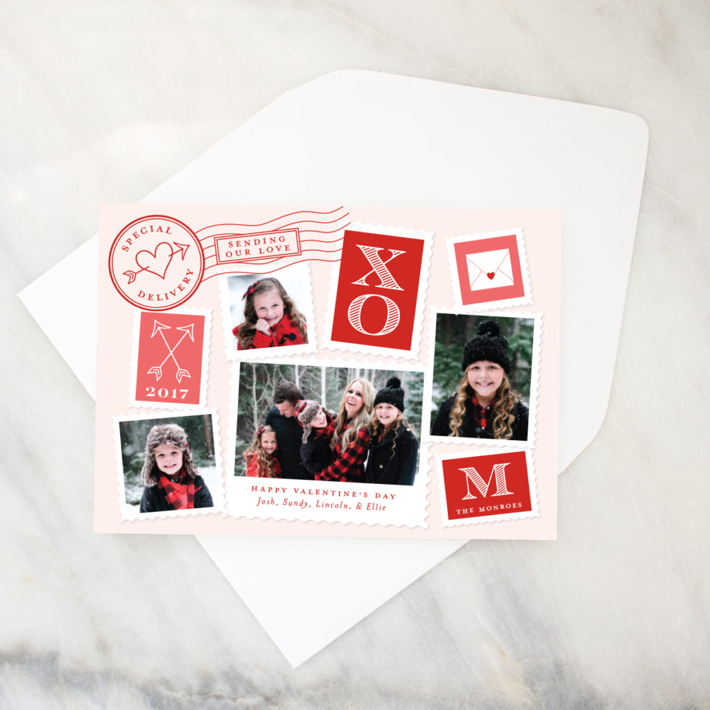 postmark valentines day photo card