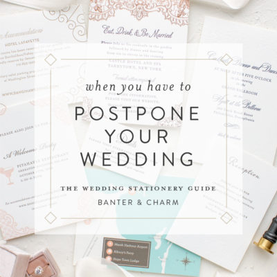 When you have to postpone your wedding