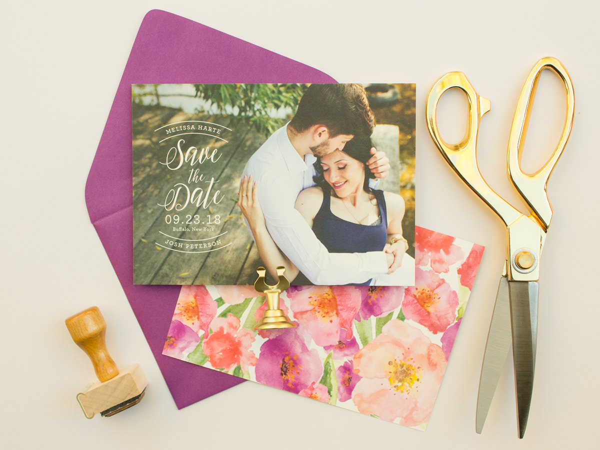 Watercolor Flowers save the date