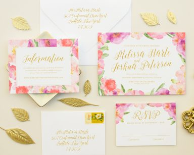 Posy | Beautiful Wedding Invitations with Watercolor Flowers
