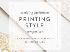 wedding invitation printing style comparison